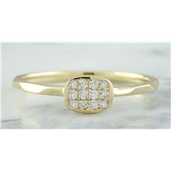 0.12 CTW 18K Yellow Gold Diamond Ring
