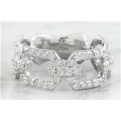1.40 CTW Diamond 18K White Gold Ring