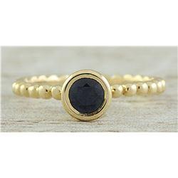 0.50 CTW Sapphire 18K Yellow Gold Ring