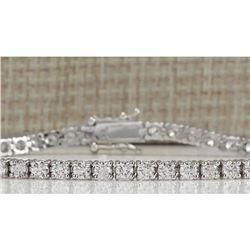 4.80CTW Natural Diamond Bracelet In 14K Solid White Gold
