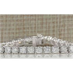 10.00 CTW Natural Diamond Bracelet In 18K Solid White Gold