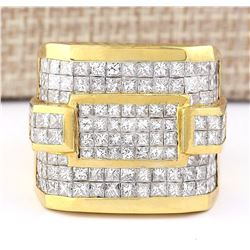 6.90 CTW Natural Diamond Ring In 18K Yellow Gold