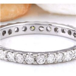 1.00 CTW Natural Diamond 14K Solid White Gold Ring