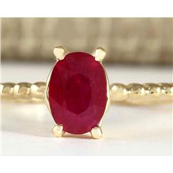 0.80 CTW Natural Ruby Ring In 18K Yellow Gold