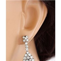 3.10 CTW Natural Diamond 18K Solid White Gold Earrings