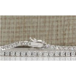 3.55 CTW Natural Diamond Bracelet In 18K Solid White Gold