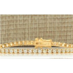 4.45 CTW Natural Diamond Bracelet In 18K Yellow Gold