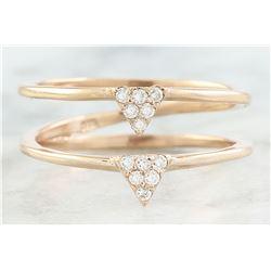 0.12 CTW Diamond 14K Dual Triangle Rose Gold Ring