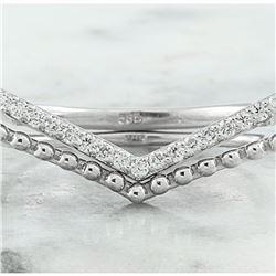 0.20 CTW Diamond 18K White Gold Ring