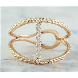 0.12 CTW 18K Rose Gold Diamond Ring