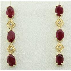 2.65 CTW Ruby 18K Yellow Gold Diamond Earrings