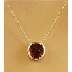 1.50 CTW Garnet 18K Yellow Gold Necklace