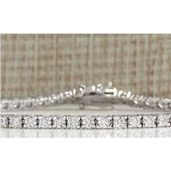 4.06 CTW Natural Diamond Bracelet In 18K White Gold