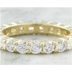 2.55 CTW Diamond 14K Yellow Gold Eternity Ring Band