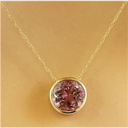 1.50 CTW Tourmaline 14K Yellow Gold Necklace