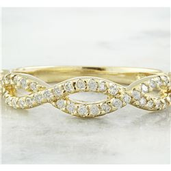 0.35 CTW Diamond 18K Yellow Gold Ring