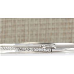 0.80CTW Natural Diamond Bracelet In 18K White Gold