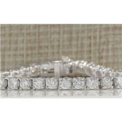 10.00 CTW Natural Diamond Bracelet In 14K Solid White Gold