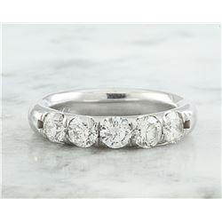 1.40 CTW Diamond 18K White Gold Ring