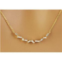 0.45 CTW Diamond 18K Yellow Gold  Necklace