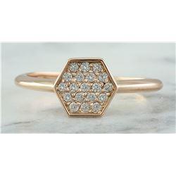 0.22 CTW 18K Rose Gold Diamond Ring