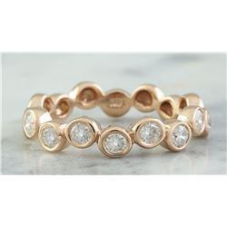 0.55 CTW 18K Rose Gold Diamond Ring
