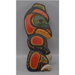 NORTHWEST COAST INDIAN WOOD PLAQUE (LARRY NIEL BARNES)
