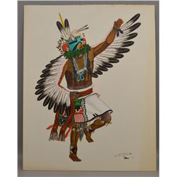 HOPI INDIAN PAINTING (CLIFF BAHNIMPTEWA)