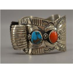 NAVAJO INDIAN WATCH BAND (CARL LUTHEY)