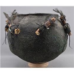 ZUNI INDIAN POTTERY FETISH JAR (TEDDY WEAHKEE)