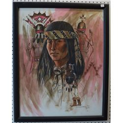 NAVAJO INDIAN PAINTING (FRED CLEVELAND)