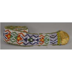 PLAINS INDIAN BEADED HAT BAND