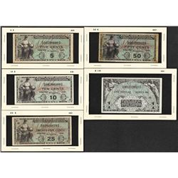 Lot of (5) Series 481 Military Payment Certificate Notes