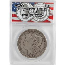 1900-S $1 Morgan Silver Dollar Coin ANACS Certified Genuine