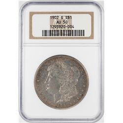 1902-S $1 Morgan Silver Dollar Coin NGC AU50