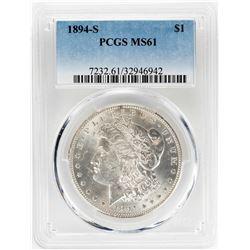 1894-S $1 Morgan Silver Dollar Coin PCGS MS61