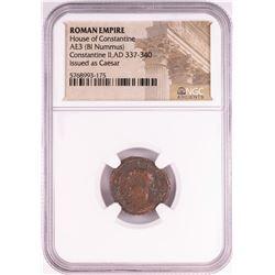 Constantine II, AD 337-340 BI Nummus Ancient Roman Empire Coin NGC Certified