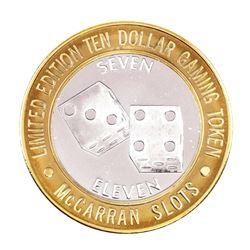 .999 Silver McCarran International Airport Las Vegas, NV $10 Limited Casino Token