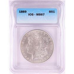 1889 $1 Morgan Silver Dollar Coin ICG MS67