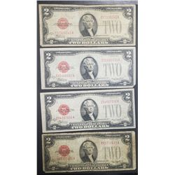 4-1928D $2 RED SEAL U.S. NOTES