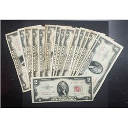 20 MIX $2 RED SEAL NOTES