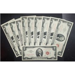 10 AU/CU $2 RED SEAL NOTES