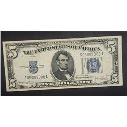 1934D $5 SILVER CERTIFICATE