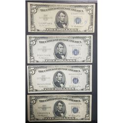 4-$5 SILVER CERTIFICATES 1953s
