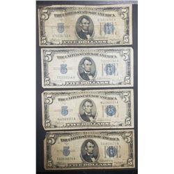 4-$5 SILVER CERTIFICATES 1934s