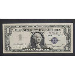 1957 CU STAR NOTE $1 SILVER CERT