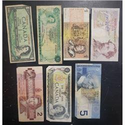 7-CANADA / BANK of ENGLAND NOTES