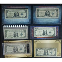 6 SILVER CERTIFICATES (2) are STAR NOTES