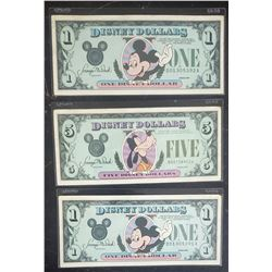 3-DISNEY DOLLARS 1987 GOOFY