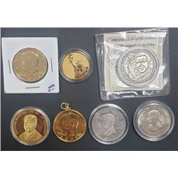 7 COMMEM COINS / ENHANCED COINS